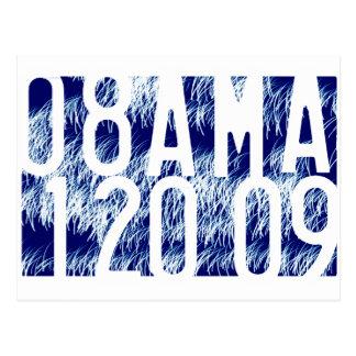 Inauguração dos fogos-de-artifício de Obama Cartão Postal