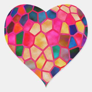 Incandescência vermelha clara de STBX de cristal Adesivo Coração