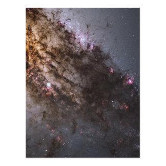 Incêndio do nascimento da estrela na galáxia cartão postal