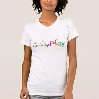 Incentive a camisa do jogo T para mulheres Camisetas