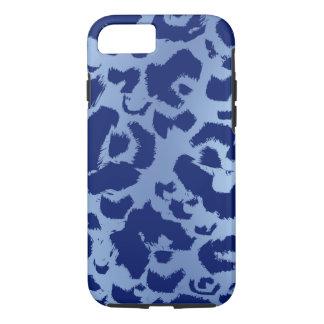 Inclinação claro escuro do impressão azul de capa iPhone 7
