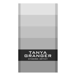 Inclinação da amostra de folha de Pantone - preto Cartão De Visita