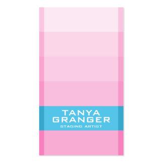 Inclinação da amostra de folha de Pantone - rosa Cartão De Visita