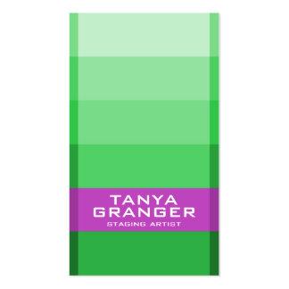 Inclinação da amostra de folha de Pantone - verde Modelo De Cartões De Visita