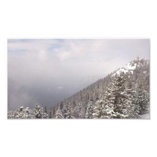 Inclinação de montanha impressão de foto
