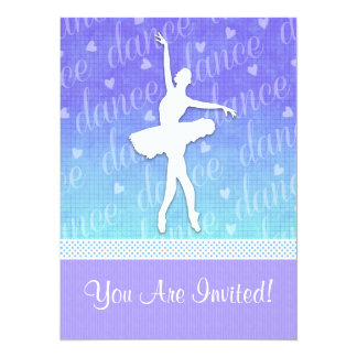 Inclinação do azul - dançarino apaixonado da convite 13.97 x 19.05cm
