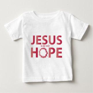 inclinação dos salmões da esperança de jesus camiseta para bebê