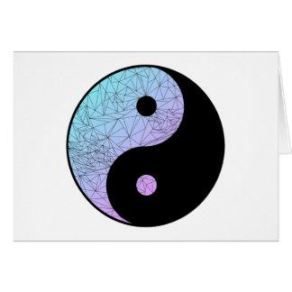 Inclinação Pastel Yin Yang Cartão Comemorativo