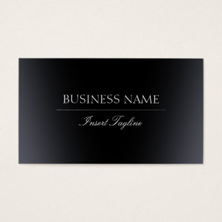 Inclinação preto cartão de visitas