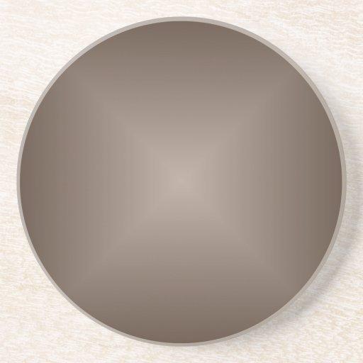 Inclinação quadrado - Brown escuro e luz - marrom Porta-copos