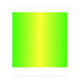 Inclinação verde amarelo e elétrico elétrico cartão postal