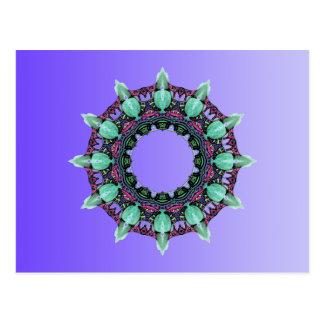 Inclinações da COR do EXEMPLO SOMENTE - violeta Cartão Postal