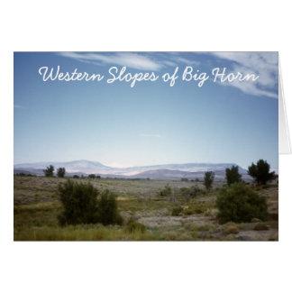 Inclinações ocidentais do cartão do Big Horn