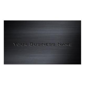 Incorporado metálico escovado preto cartão de visita