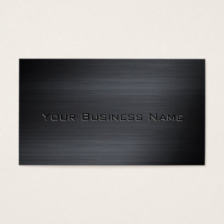 Incorporado metálico escovado preto cartão de visitas