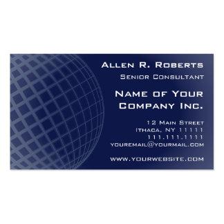Incorporado moderno azul escuro elegante global cartão de visita
