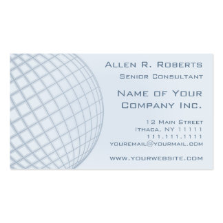 Incorporado moderno azul pálido elegante global cartão de visita