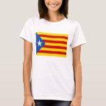 """Independência Catalan """"L'Estelada Blava """" Camiseta"""