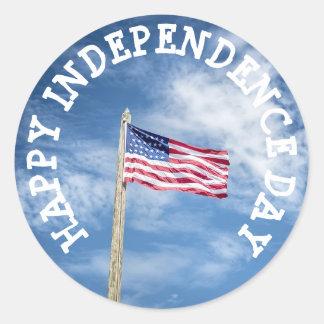 Independência feliz de etiquetas de julho