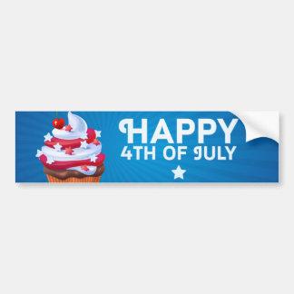 Independência ilustração do cupcake do 4 de julho adesivo para carro