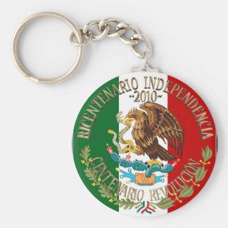 Independência/revolução de 2010 mexicanos chaveiro