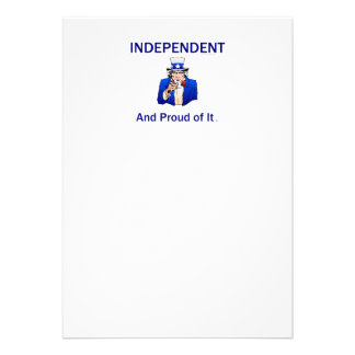 Independente orgulhoso do T Convites Personalizado