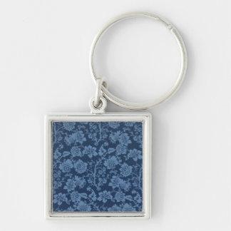 indeterminado chaveiro quadrado na cor prata