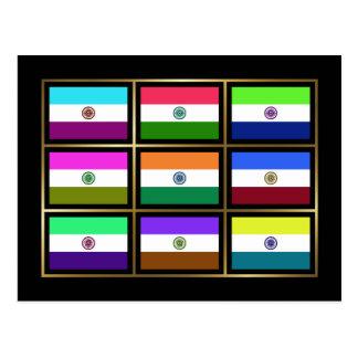 India Multihue embandeira o cartão