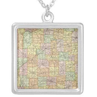 Indiana 11 colar banhado a prata