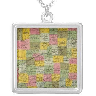 Indiana 9 colar banhado a prata