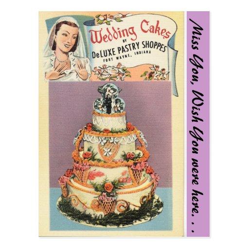 Indiana, bolos de casamento, Fort Wayne Cartão Postal