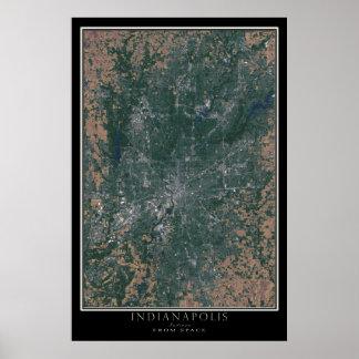 Indianapolis Indiana da arte do satélite do espaço Poster