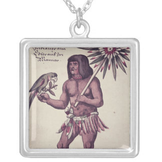 Indiano de Amazon, gravado por Theodore de Bry Bijuterias Personalizadas