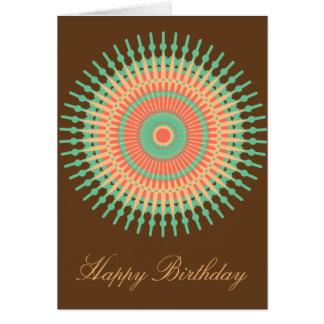 Indiano do aniversário do design da mandala cartão comemorativo