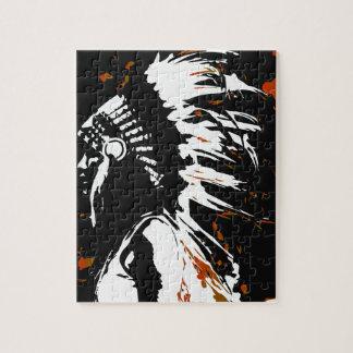 Indiano do nativo americano quebra-cabeças