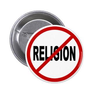 Indicação permitida religião do sinal de /No da Bóton Redondo 5.08cm