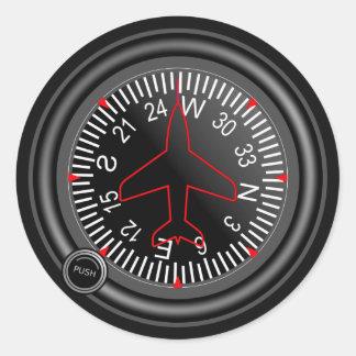Indicador do título dos aviões adesivos redondos