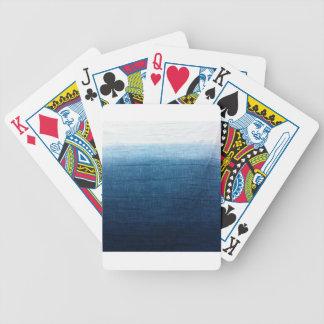 Índigo minimalista da aproximação 2 carta de baralho