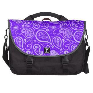 Índigo, Paisley roxo; Floral Bolsa Para Laptop