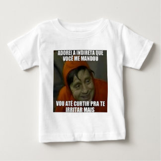 indireta camiseta para bebê