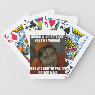 indireta carta de baralho