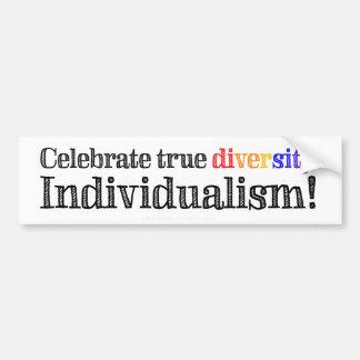 Individualismo verdadeiro da diversidade adesivo para carro