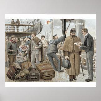 Indo a bordo no Tilbury, 'de P & de O Pencillings Poster