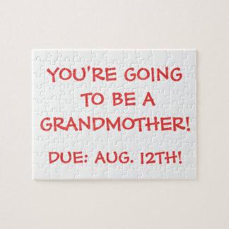 """""""Indo ser uma avó!"""" Quebra-cabeça"""