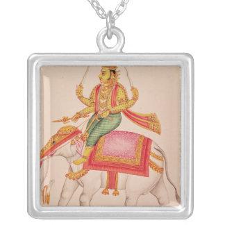 Indra, deus das tempestades, montando em um elefan colares