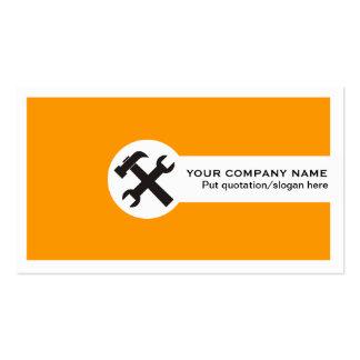 Indústria da construção cartão-alaranjada modelos cartão de visita