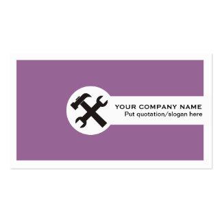 Indústria da construção cartão-roxa