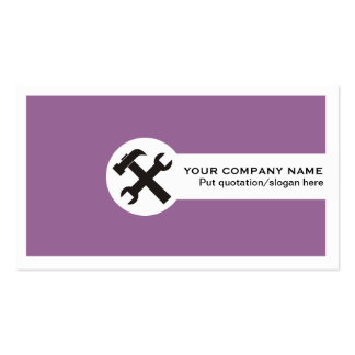 Indústria da construção cartão-roxa cartão de visita