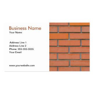 Indústria da construção civil clássica da parede cartão de visita