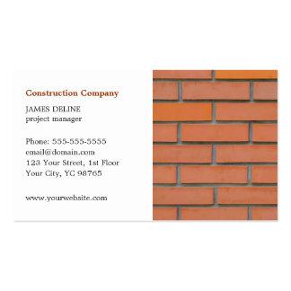 Indústria da construção civil simples clássica cartão de visita